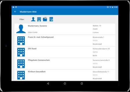 CareCM app in tablet
