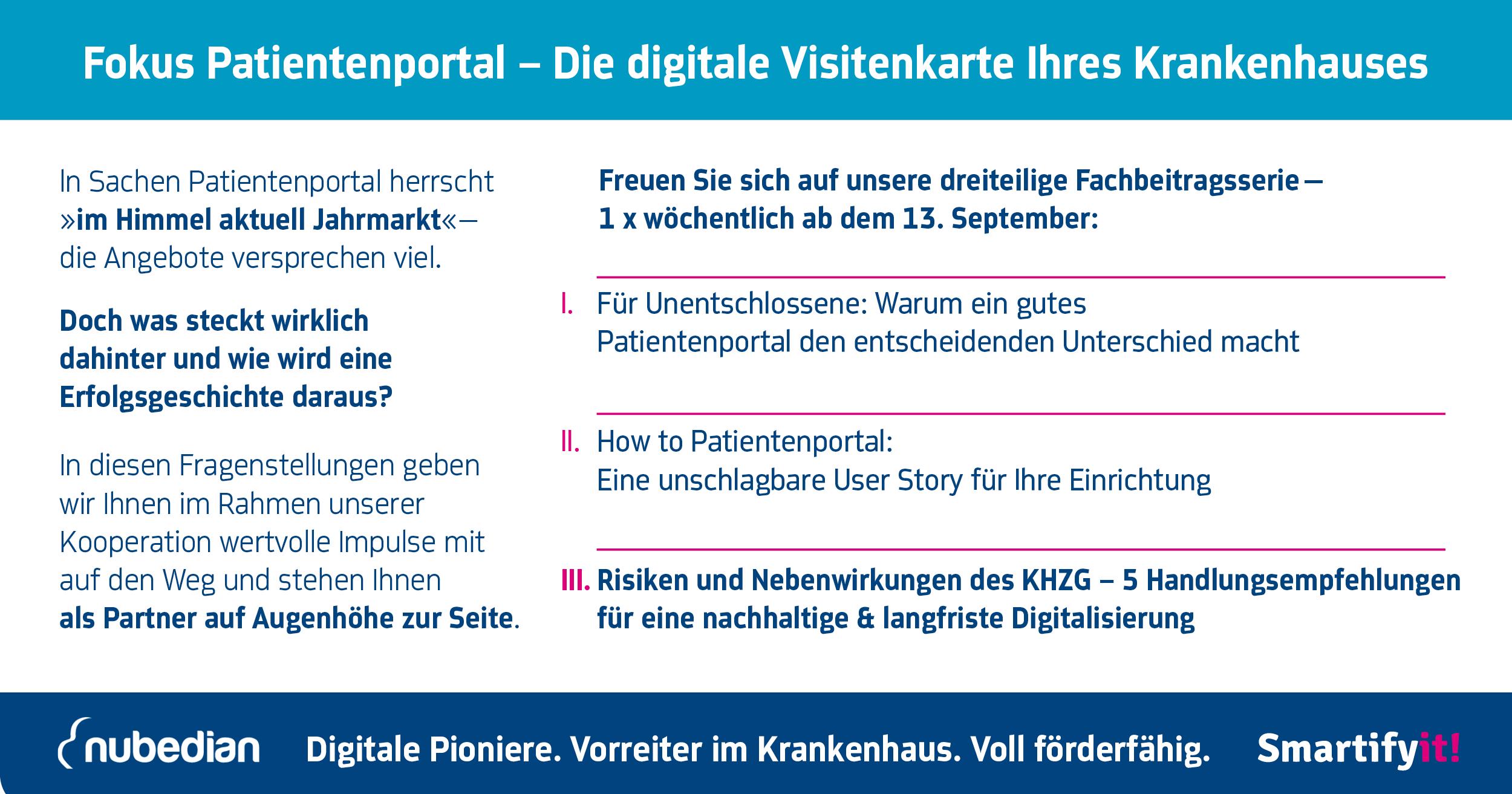 Teaser Patientenportal Fachbeitragsserie 3 Digitalisierung Krankenhaus